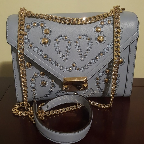 1ce524b0d97b Whitney Large Studded Leather Convertible Shoulder.  M 5be6328e2beb7938efed732f